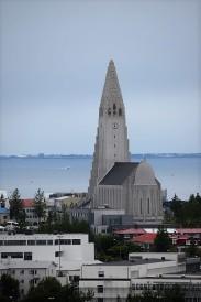AIDAluna_Island_Reykjavik_Hallgrims_Kirche_vom_Perlan_aus