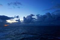 Abendstimmung Seetag auf dem Weg nach Bergen