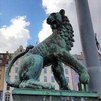 Bergen Löwenfigur1 am Hafen