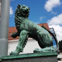 Bergen Löwenfigur2 am Hafen