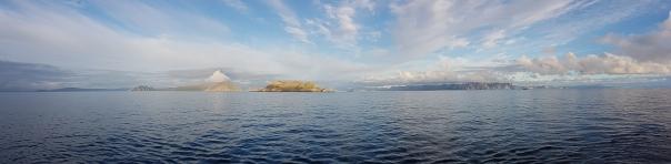 Fjordlandschaft auf der Fahrt nach Tromsø