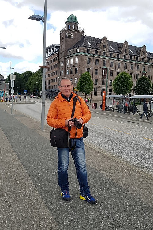 typischer Tourist - gleich mit zwei Kameras
