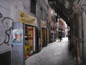 Gassen der Altstadt Genuas