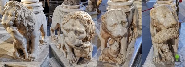 4 Löwensockel - Kanzel im Dom von Siena