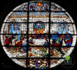 Fensterrose Abendmahl Jesu - Dom von Siena