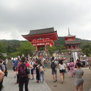 Auf dem Weg zum Kiyomizu-dera-Tempel