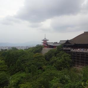 Blick auf Kyoto mit Kiyomizu-dera-Tempel