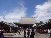Blick auf den Sensoji Tempel