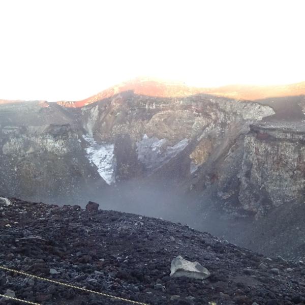 Vulkankrater des Fujis